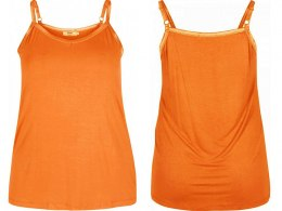ZIZZI TOP BASIC RAMIĄCZKA ORANGE 112F